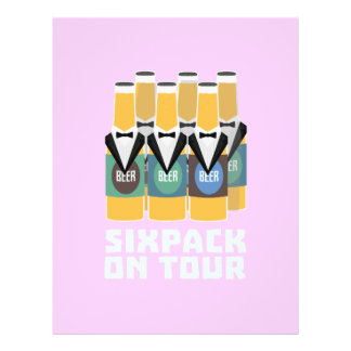 Sixpack Beer on Tour Zn1pu 21.5 Cm X 28 Cm Flyer