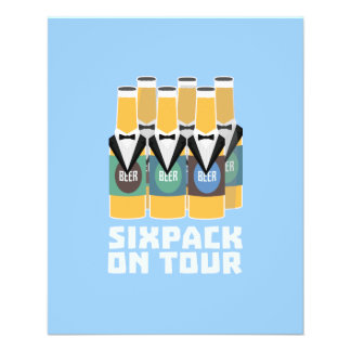 Sixpack Beer on Tour Zn1pu Flyer