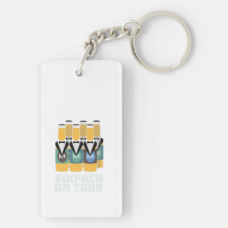 Sixpack Beer on Tour Zn1pu Key Ring