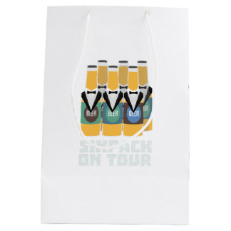 Sixpack Beer on Tour Zn1pu Medium Gift Bag