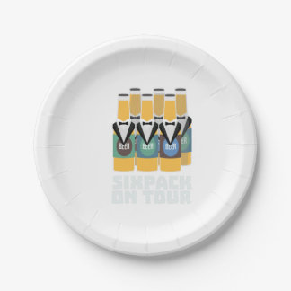 Sixpack Beer on Tour Zn1pu Paper Plate