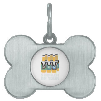 Sixpack Beer on Tour Zn1pu Pet ID Tag