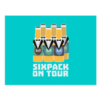 Sixpack Beer on Tour Zn1pu Postcard