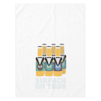 Sixpack Beer on Tour Zn1pu Tablecloth