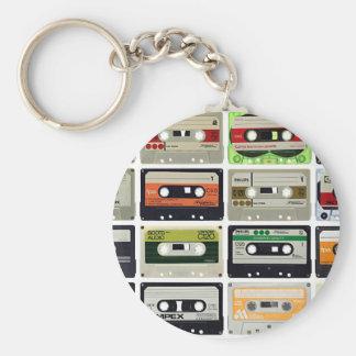 Sixteen Audio Cassettes Key Ring