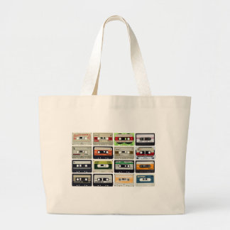 Sixteen Audio Cassettes Large Tote Bag