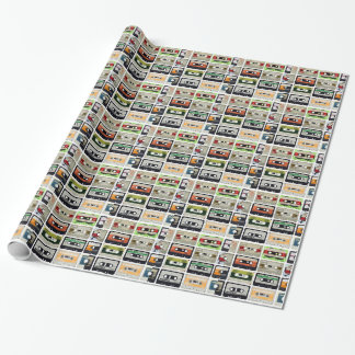 Sixteen Audio Cassettes Wrapping Paper