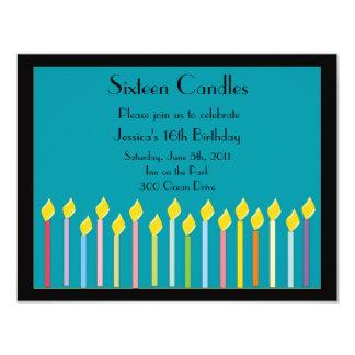 Sixteen Candles Birthday Invitation