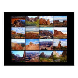 Sixteen Utah Landscape Icons Postcard