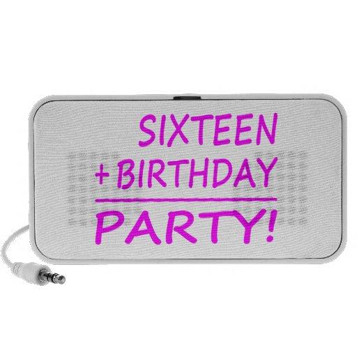 Sixteenth Birthdays : Sixteen + Birthday = Party Notebook Speakers