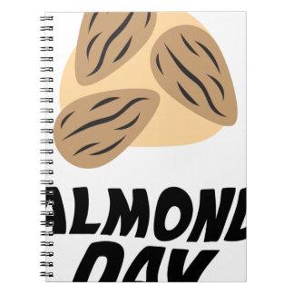 Sixteenth February - Almond Day Spiral Notebook