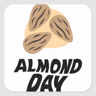 Sixteenth February - Almond Day Square Sticker