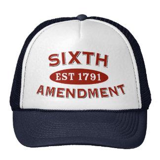 Sixth Amendment Est 1791 Cap