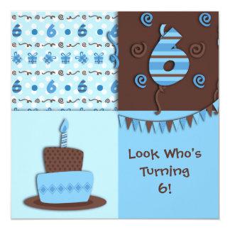 Sixth Birthday : Boy : Invitation