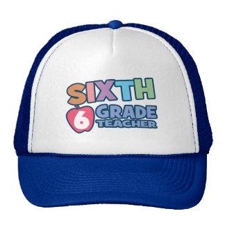 Sixth Grade Teacher Cap