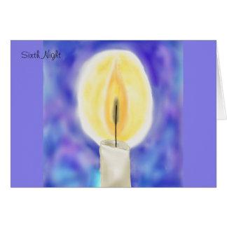 Sixth Night Hanukkah Card