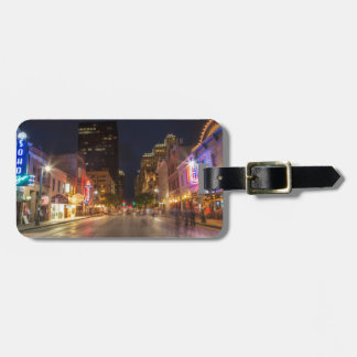 Sixth Street At Dusk In Downtown Austin, Texas Bag Tag
