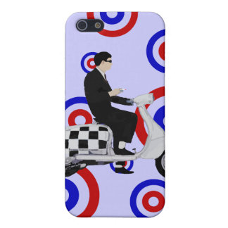 Sixties check mod scooter rider case for iPhone 5/5S