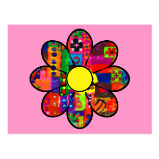 Sixties Flower Power Postcard