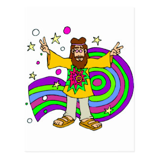 Sixties Hippy Postcard