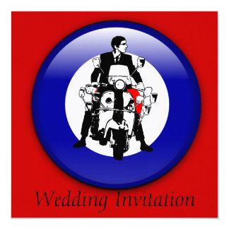 Sixties Mod on 3d target invitations