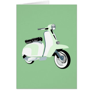 Sixties Mod Scooter Greeting Card