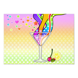SIXTIES POP ART STYLE MARTINI CARD