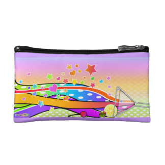 SIXTIES POP ART STYLE MARTINI COSMETIC BAG