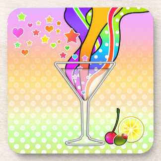 SIXTIES POP ART STYLE MARTINI DRINK COASTERS