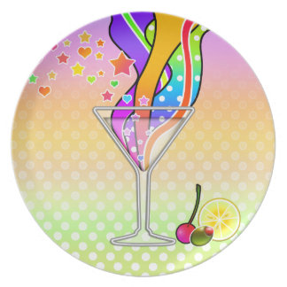 SIXTIES POP ART STYLE MARTINI PLATE