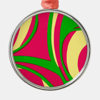 Sixties Style Abstract Design Christmas Tree Ornaments