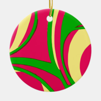 Sixties Style Abstract Design Ornaments