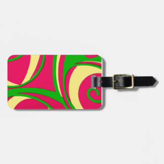 Sixties Style Abstract Design Luggage Tags