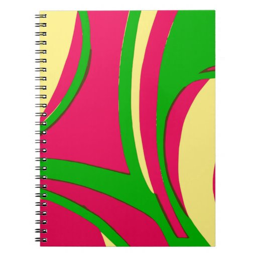 Sixties Style Abstract Design Journals