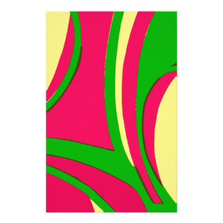 Sixties Style Abstract Design Custom Stationery