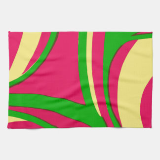 Sixties Style Abstract Design Kitchen Towels