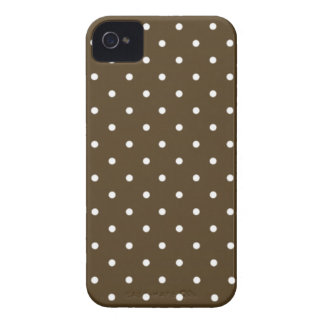 Sixties Style Brown Polka Dot iPhone 4/4S Case