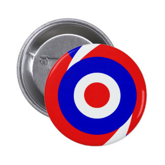 Sixties style mod design 6 cm round badge
