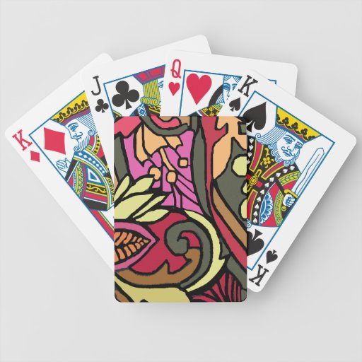 Sixties Style Psychedelic Playing Cards