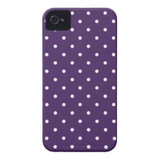 Sixties Style Purple Polka Dot iPhone 4/4S Case