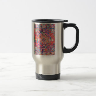 Sixties style stainless steel travel mug