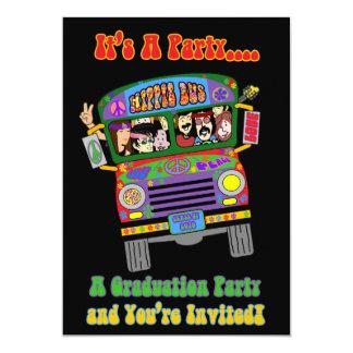 Sixties Theme Graduation Invitation