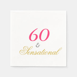 Sixty and Sensational Paper Serviettes