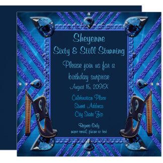 Sixty & Still Stunning Sapphire Gems Invite