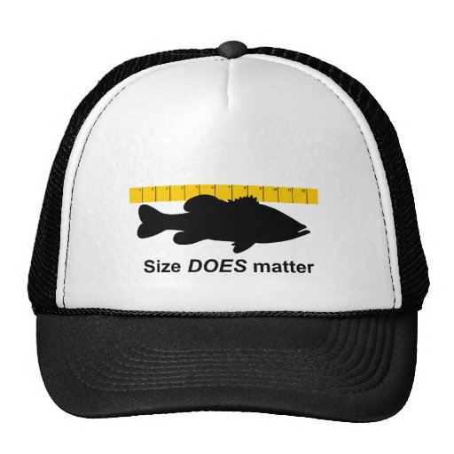 """Funny Quotes About Size Matters: """"Size Does Matter"""" - Funny Bass Fishing Cap"""