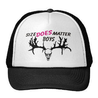 size does matter trucker hats