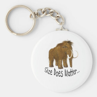 Size Does Matter Wooly Mammoth Basic Round Button Key Ring