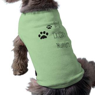 size doesn't matter sleeveless dog shirt