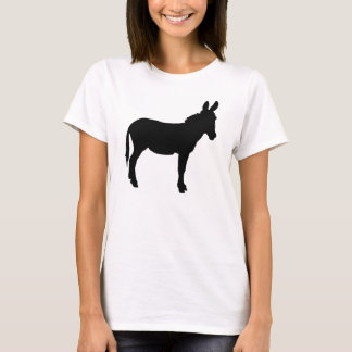 Size M Ladies plain white tshirt with donkey logo