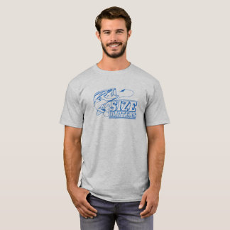 Size Matters Fish Logo Funny T-Shirt